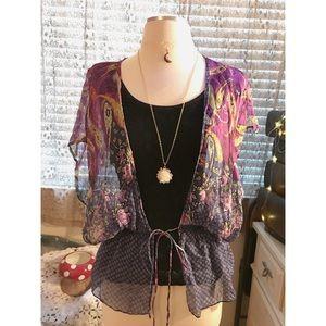 💐 Forever 21 boho paisley kimono coverup 🌻